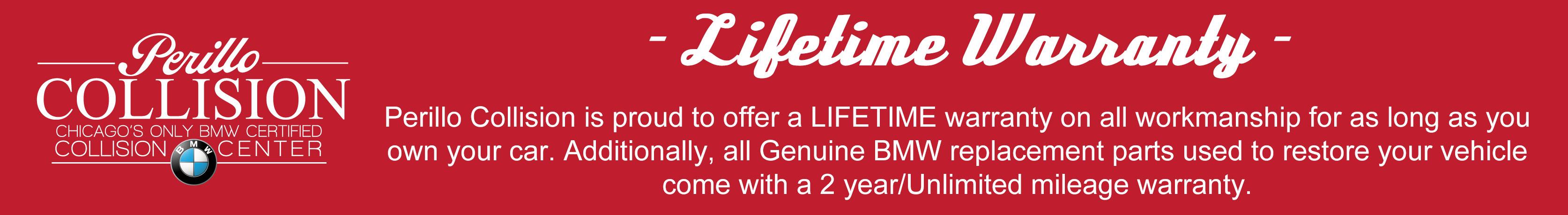 Perillo Collision Lifetime Warranty